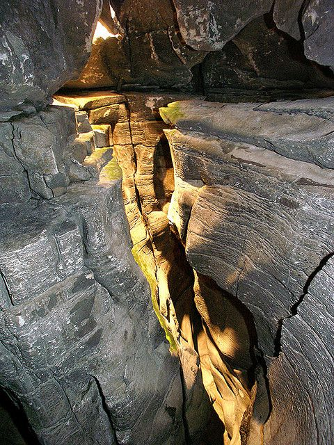 Mammoth Cave, KY, longest known cave system in the world.