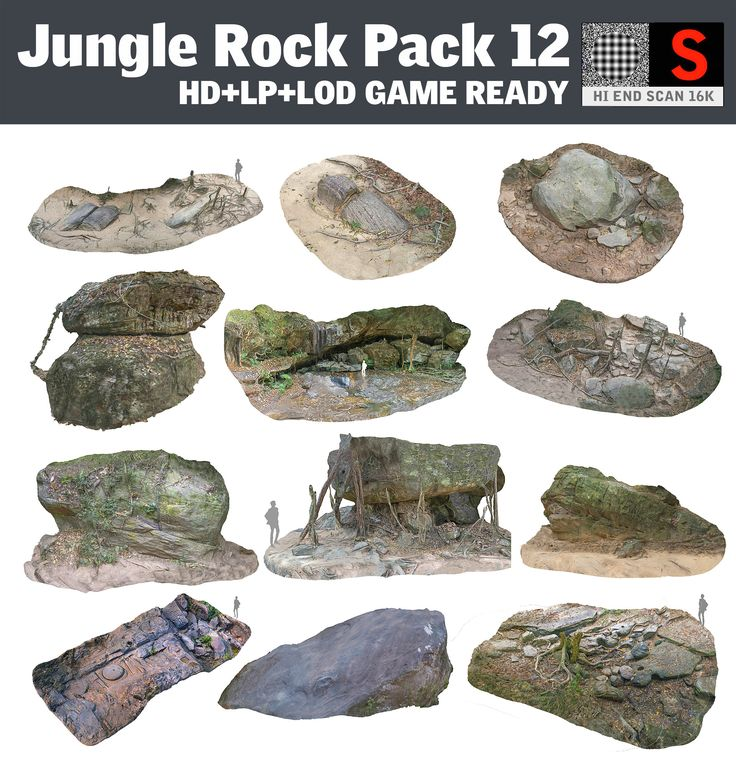 jungle rock pack 12 obj