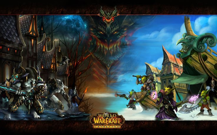 widescreen backgrounds world of warcraft cataclysm