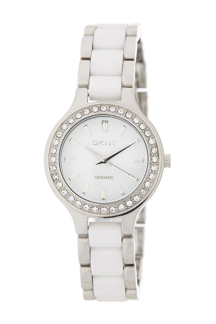 Women's Chambers Crystal Embellished Bracelet Watch by DKNY on @HauteLook