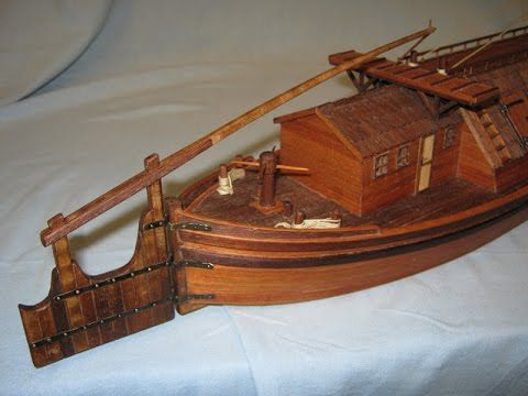 Bőgős hajó, Egész csajka, Chaland de Loire, Burchio hajómodell hajó make...
