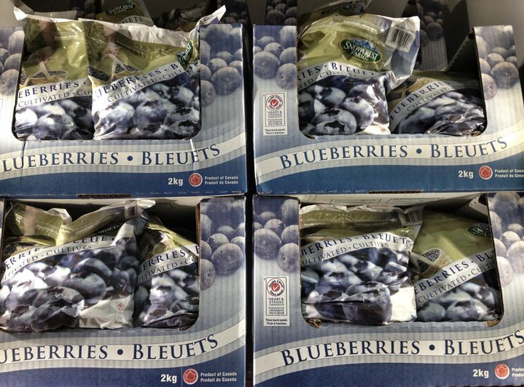 Snowcrest Frozen Blueberries Packaging