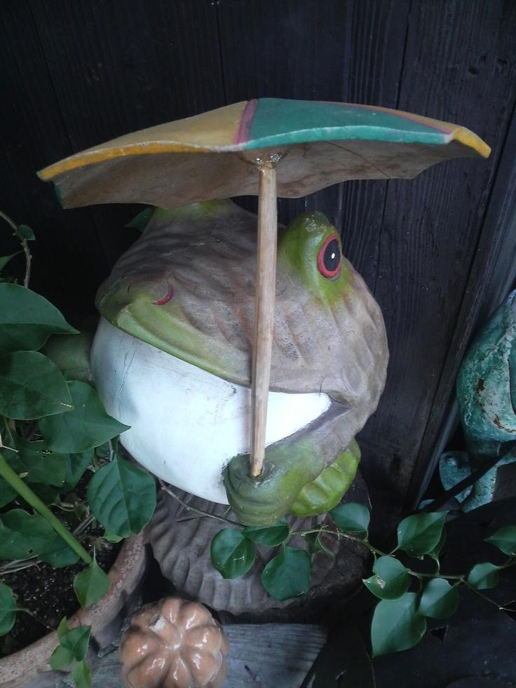 雨宿り~♪