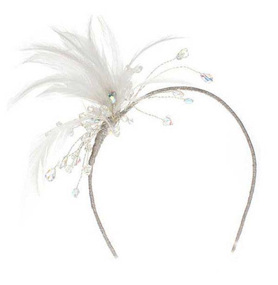 Swarovski Crystal & Feather Headband by AnnieLaurieBridal on Etsy