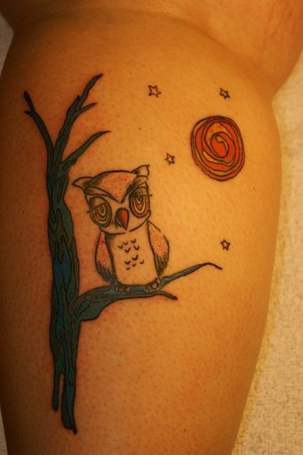 Owl tattoo by Southside Tattoo & Piercing, via Flickr