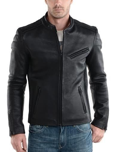 Men's Leather Jacket Original Lambskin Coat Motorcycle New Gift All Size M#15 #Handmade #Motorcycle