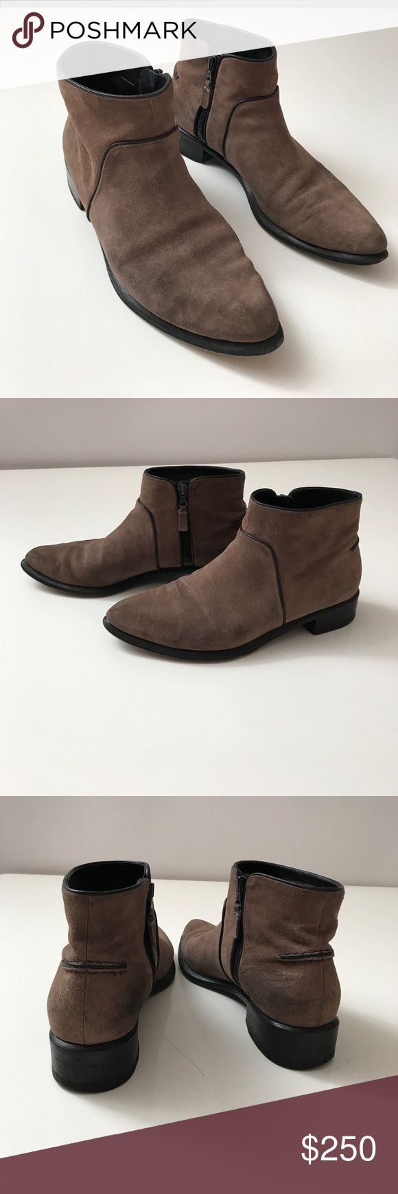 Rag & Bone suede boots Rag & Bone Brown suede ankle boots. They are used but in well conditions. The suede has some spots on the sides of the boots due use. But not a big problem. rag & bone Shoes Ankle Boots & Booties