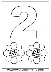 Number Coloring - 1-10- Free Printable Worksheets - Worksheetfun