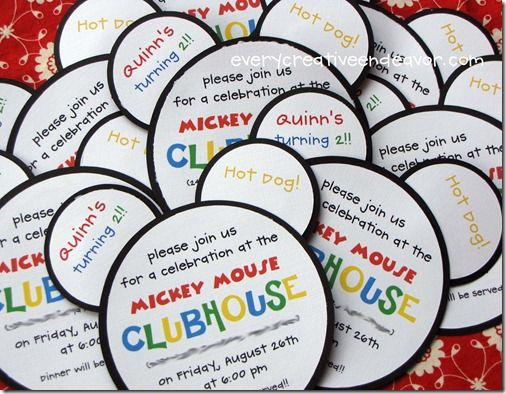 mickey mouse clubhouse birthday parties - Bing Images