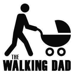 """Auto-Aufkleber - Baby Aufkleber """"walking Dad"""" Baby on Board - ein Designerstück von AH_Sticker bei DaWanda"""