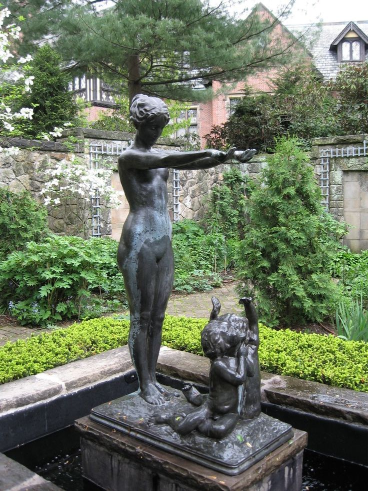 Water Goddess Fountain In English Garden Stan Hywet Photo By Cliff Helsel
