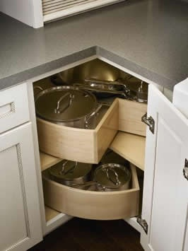 lazy susan pan drawers - I'd like to have walls for mine for my spices.