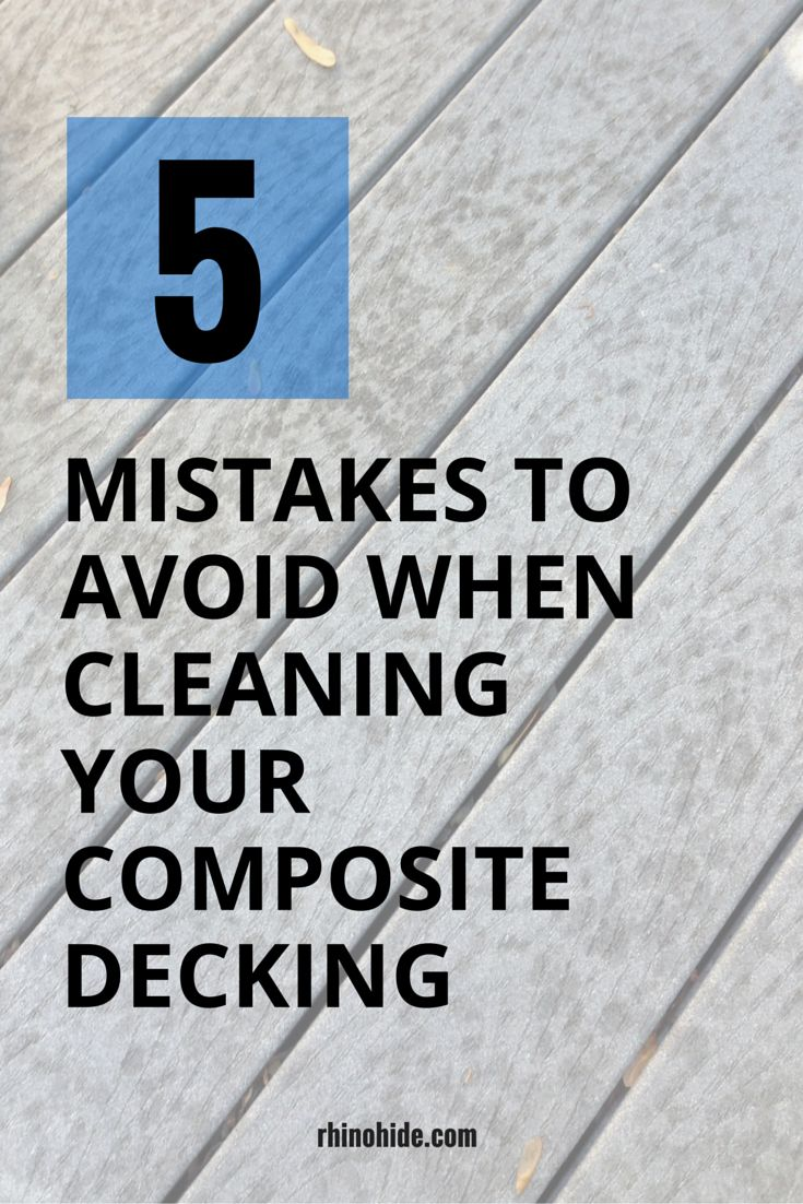 how to keep a wood deck clean