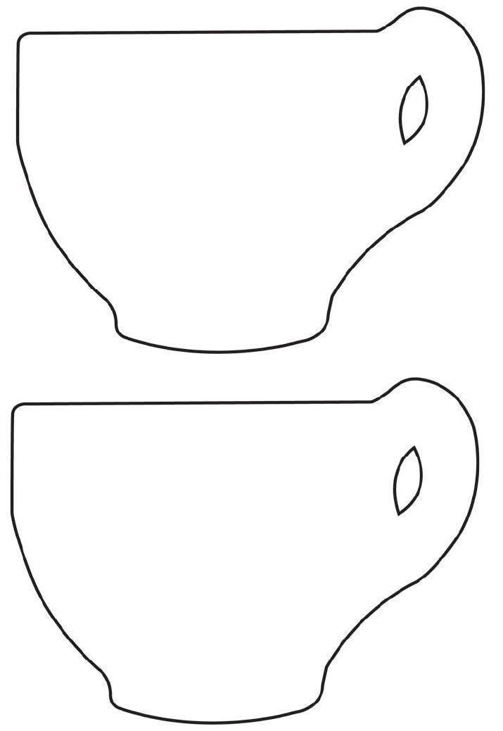 FREE Printable Tea Cup Template