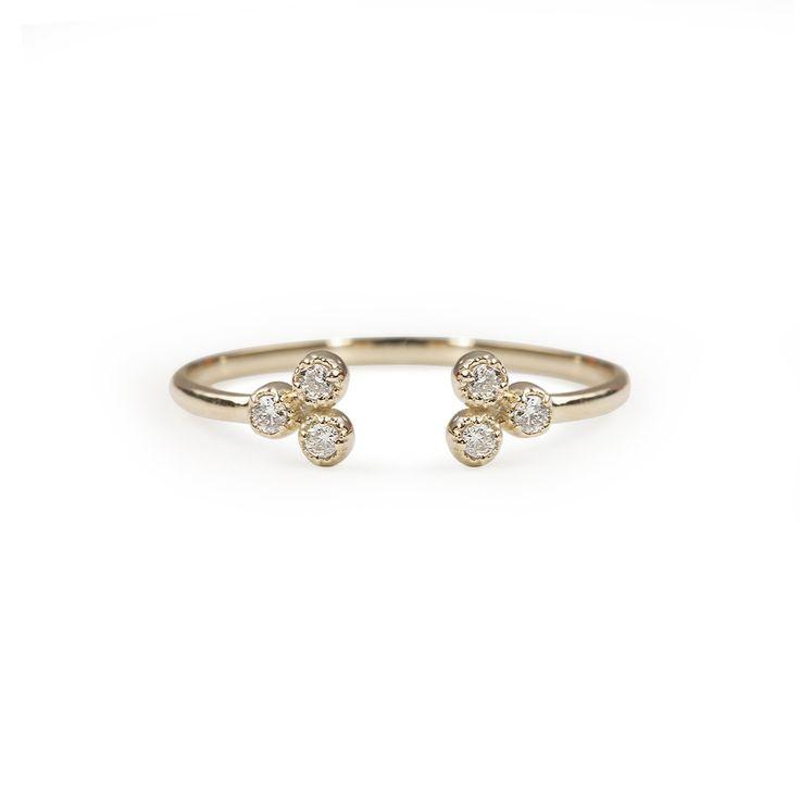 Dahlia Trio Diamond Open Ring – Envero Jewelry