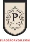 """Monogram """"P"""" Estate Flag - 1 left"""