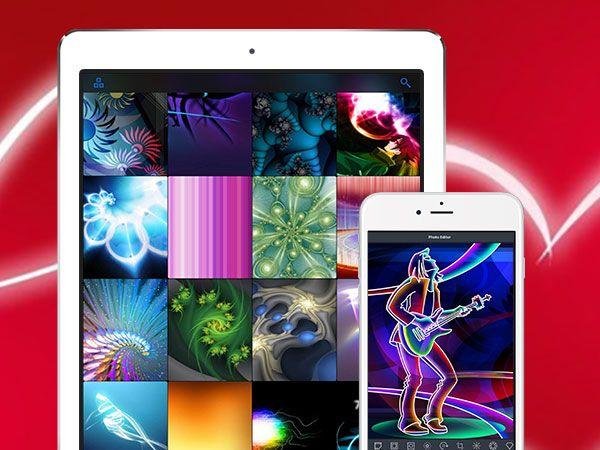 Glow Wallpapers Pro Iphone Ipad Fonds D Ecran Fluorescents Gratuit Maxiapple Com Fond Ecran Iphone Ipad Iphone
