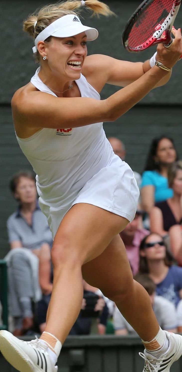 Angelique Kerber on the fly. #ClippedOnIssuu from 2014 Wimbledon Review