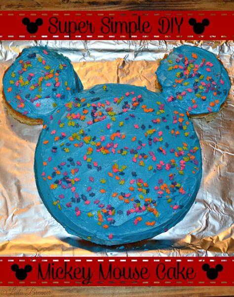 Super Simple DIY Mickey Mouse Cake Tutorial (scheduled via http://www.tailwindapp.com?utm_source=pinterest&utm_medium=twpin&utm_content=post1466459&utm_campaign=scheduler_attribution)