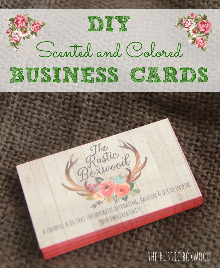 how to make scented business cards