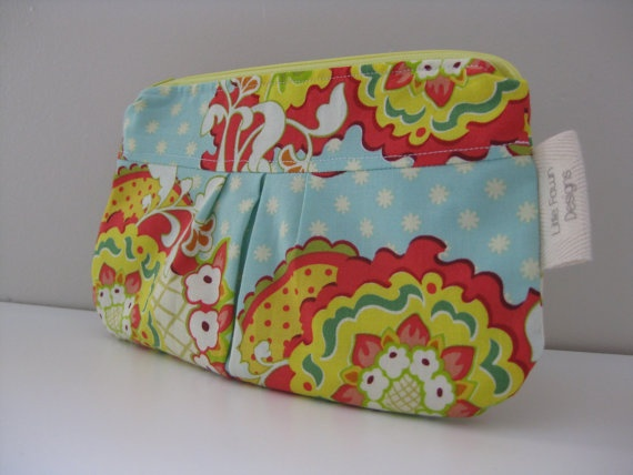 Vibrant floral Zip pouch by LittleFawnDesigns on Etsy, $15.00  'I heart #littlefawndesigns'
