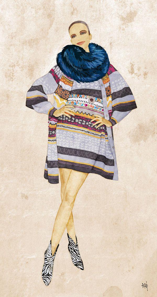 Digital fashion paintings by Robert Jonas Toth, via Behance