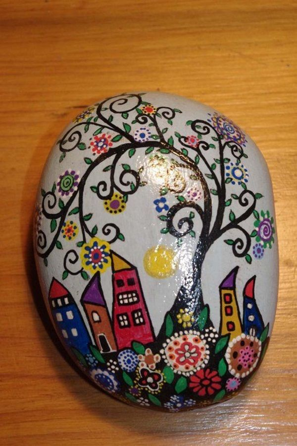 45 easy rock painting ideas for kids to try painted - Painting rocks for garden what kind of paint ...