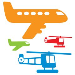 Aircraft Wall Stickers Multicoloured 2 - Wall Glamour