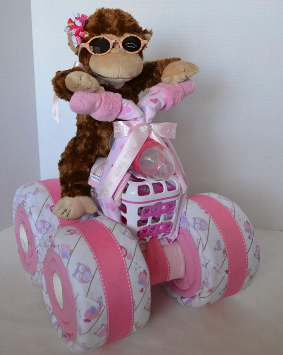 Diaper Cake 4Wheeler Quad Motorcycle Baby by arizonababycakes