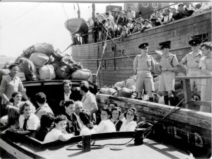 IDF 1948 Israel Independence War: Aliyah Bet - Illegal immigration, also called Ha'apalah
