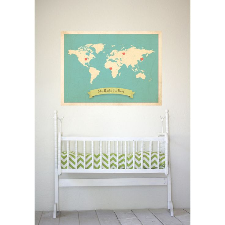 World Roots Map 18x24 Customized Print (Blue). $50.00, via Etsy.: Gift, Maps, Roots Map, Customized 50 00, Roots Lie, Map 18X24, 18X24 Customized, Wall