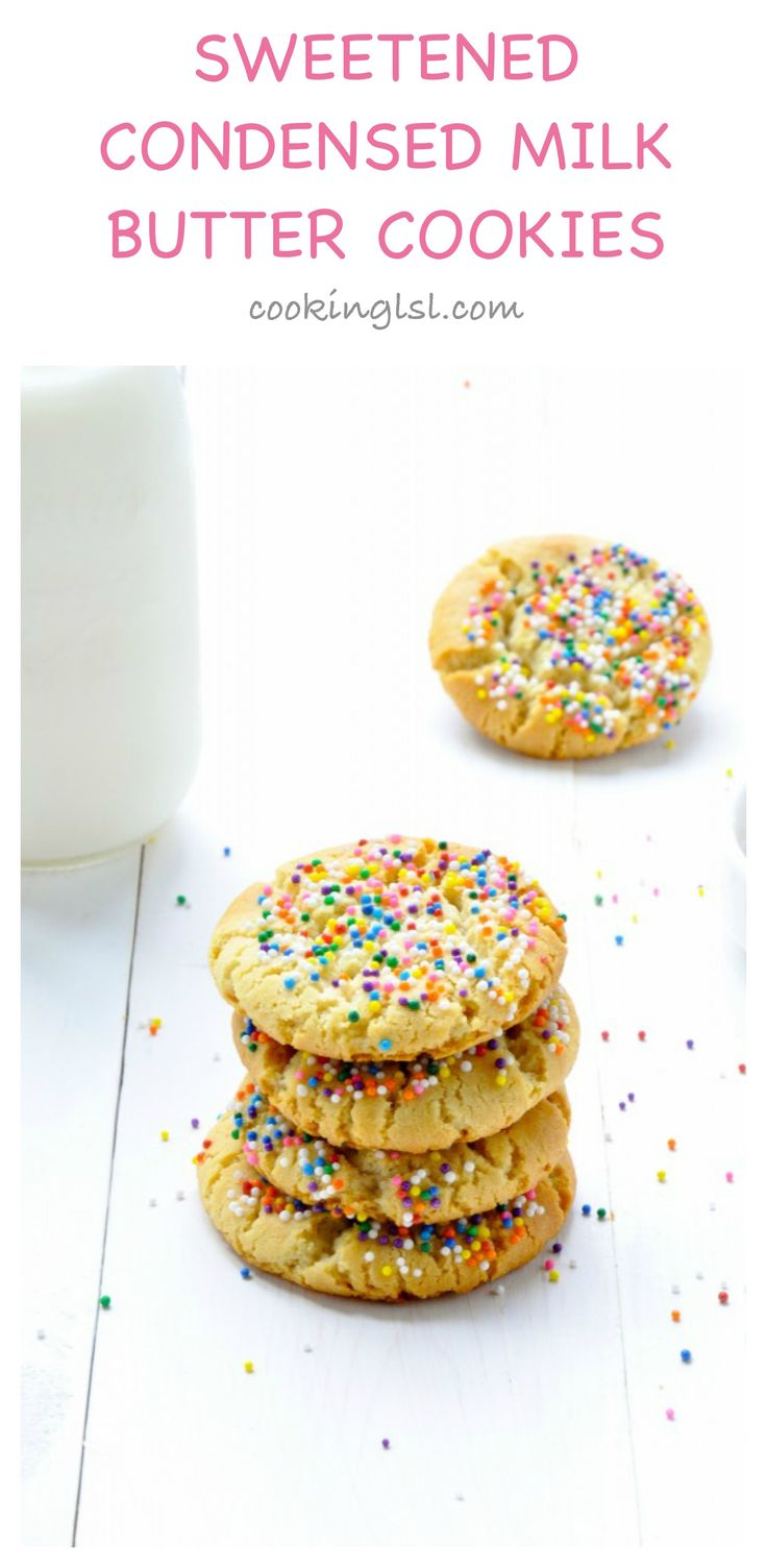 Sweetened Condensed Milk Three Ingredient Butter Cookies Recipe