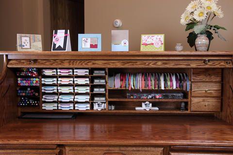 Scrapbook Desk Paper Craft Roll Top Desk Scrapbook Room