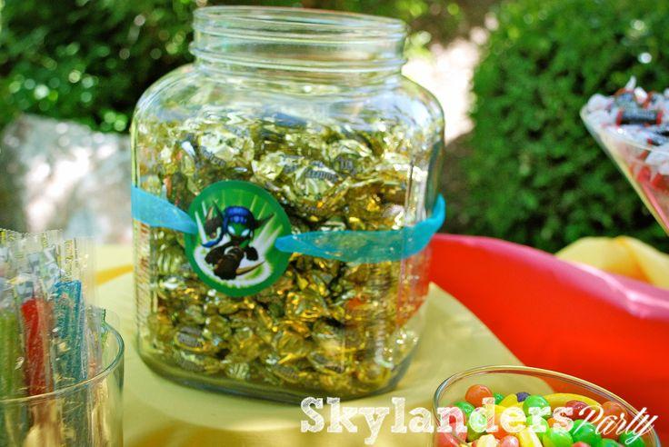 Skylanders candy Jar label ideas for a birthday party