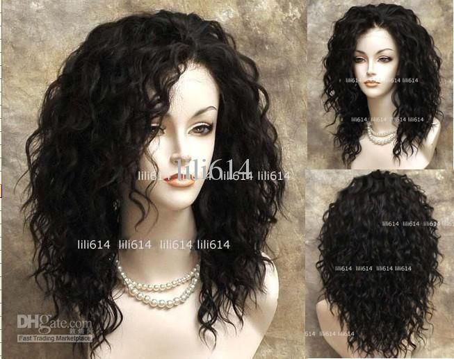 Wholesale Lace Front Wigs - Buy 16 Inches Long Lace Front Wig Wavy Dark Brown Wig, $47.23 | DHgate