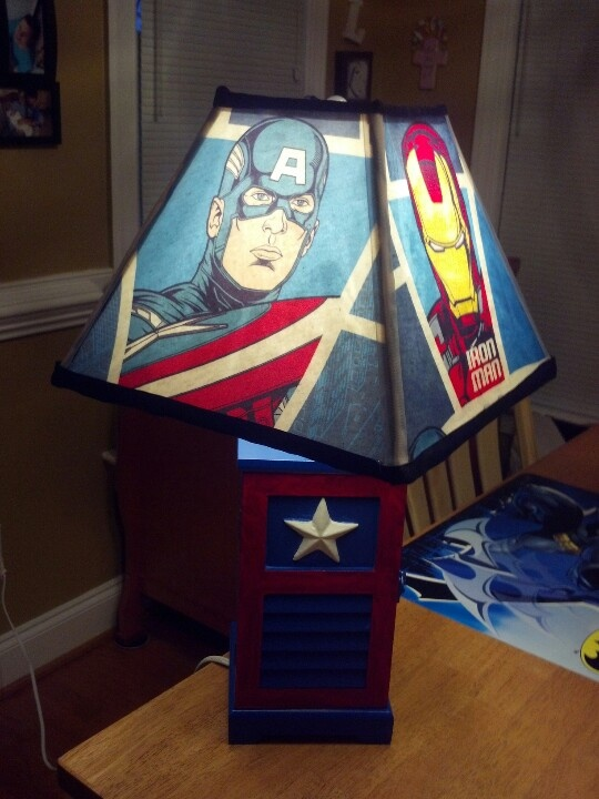 Wall Lamps Avengers : Avenger Lamp decoration. mommy loves the avengers Pinterest Avengers, Awesome and The shade