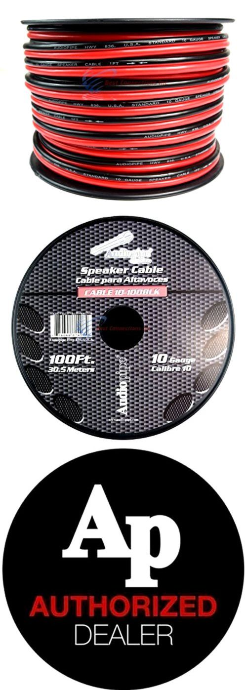 Power and Speaker Wire: 100 Ft 10 Gauge Awg Red Black Stranded 2 Conductor Speaker Wire Car Home Audio -> BUY IT NOW ONLY: $32.21 on eBay!