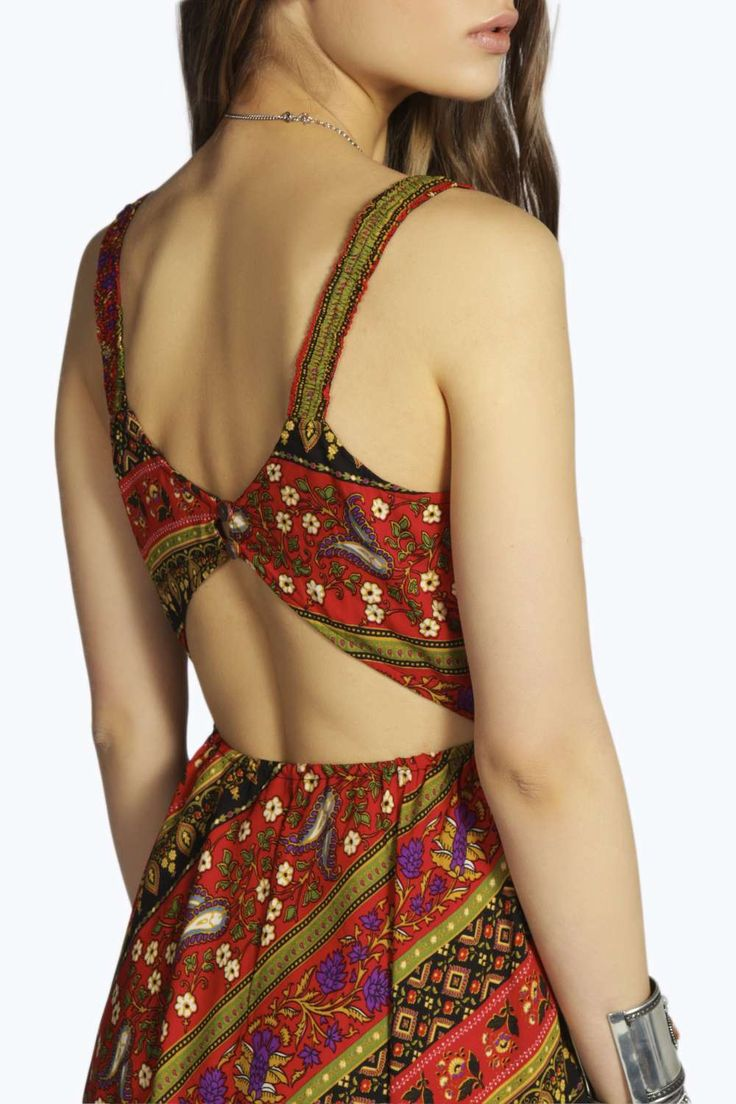 Avery Printed Open Back Woven Dress alternative image