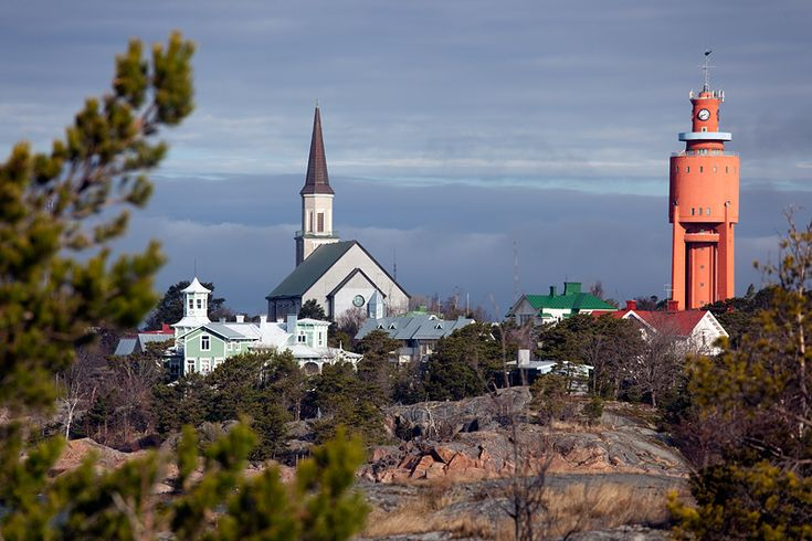 Hanko. Two towers - Hanko, Southern Finland