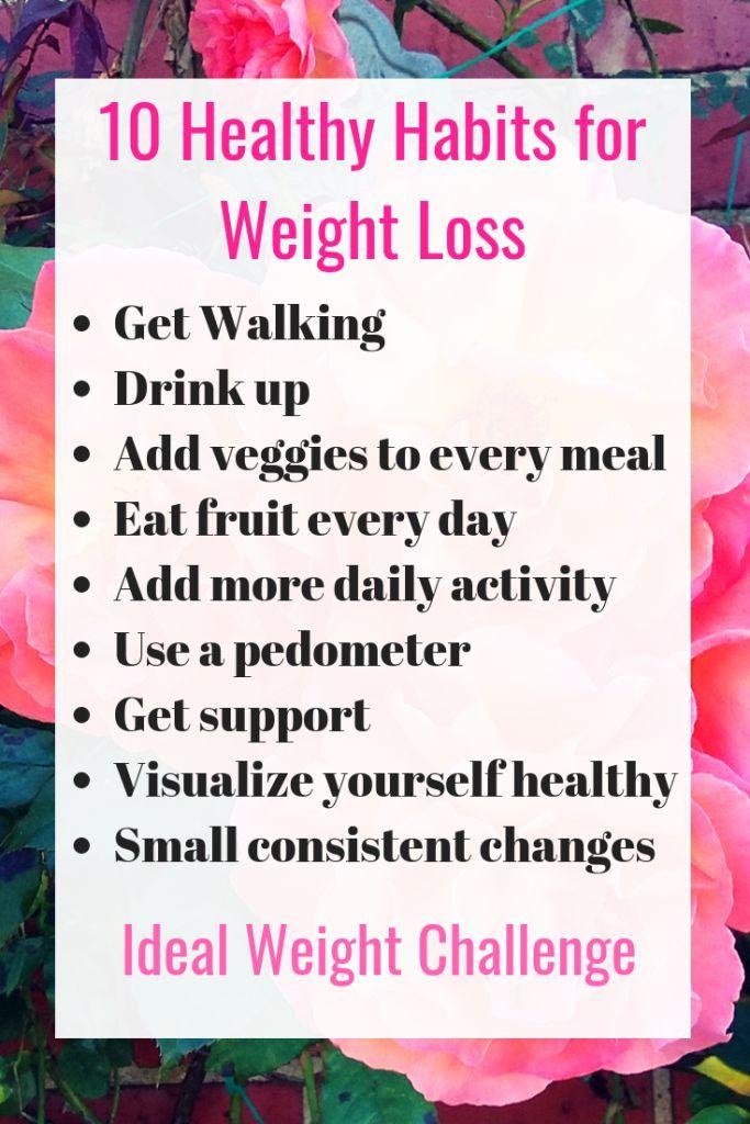 10 gesunde Gewohnheiten zur Gewichtsreduktion – Hilft Ihnen, einen gesunden Lebensstil zu …   – Self Care