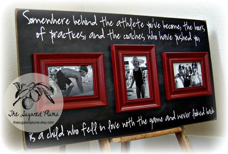 swim team picture frames | Coach Gift, Coaches Thank You Gift, Team Sports, Football, Baseball ...