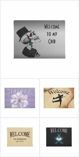Welcome Mats - These unique custom welcome door mats are now 30% off #mycrib #dancestudio #scifiwelcome