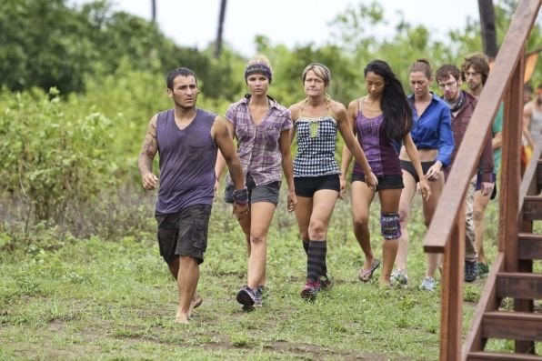 "Survivor Photos: Walking to the challenge in ""Persona Non Grata"" Episode 5 of Season 26 on CBS.com  Everyone looks so somber"