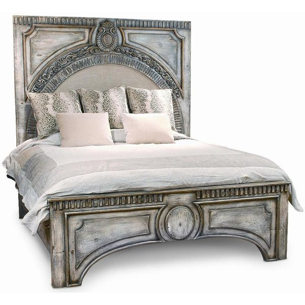 High Quality Ornate Gray Wash Amelie Bed ($3,795) ❤ Liked On Polyvore Featuring Home,  Furniture