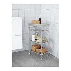 IKEA - GRUNDTAL, Cart, , Easy to move around with the included casters.Removable shelves which are easy to clean.