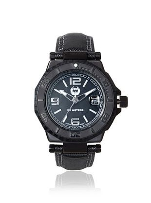 84% OFF Brillier Men's 25-05 Hype Black Stainless Steel Watch
