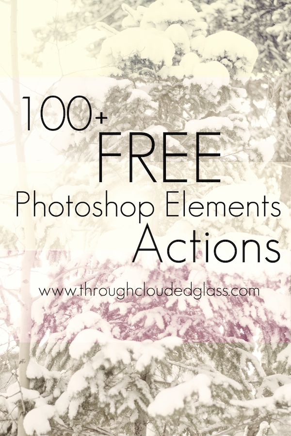 Links to 100+ FREE Photoshop Elements Actions!