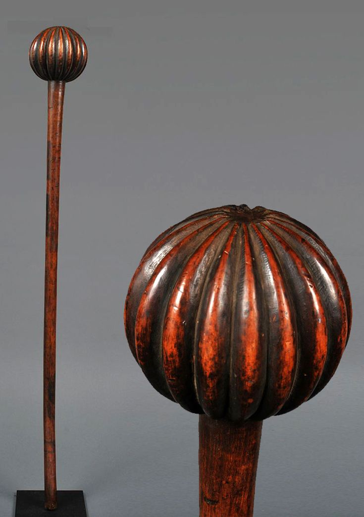 Africa | Knobkerry from the Zulu people of South Africa | Wood | Late 19th century