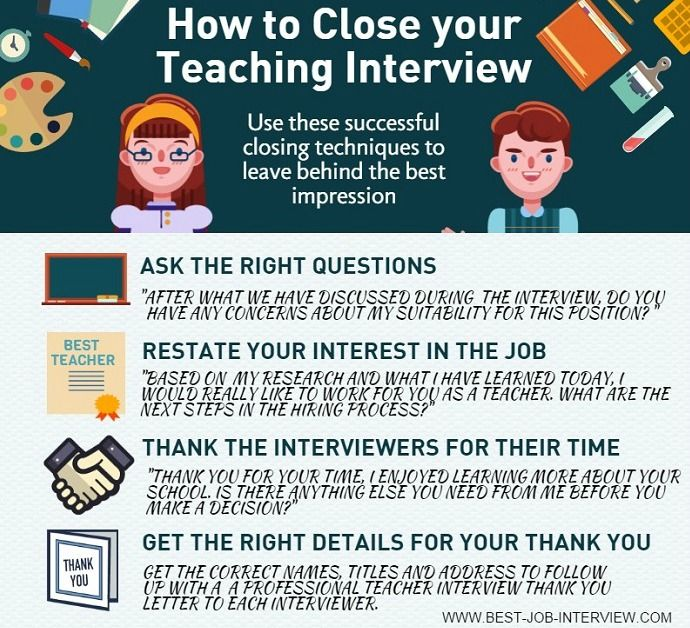 How to close your teaching interview