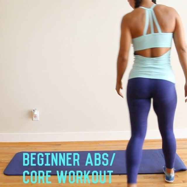 Beginner Abs/Core Workout! Tag someone who could use this!You'll notice all the emphasis on form, this is key. . 1️⃣Modified Plank (hold for 10-20 sec)  2️⃣Modified Commandos (alternate arms, keep that form tight, 10 Reps) 3️⃣Quick Planks (tuck toes under, push back thru heels, one long line, 10 Reps)  4️⃣Modified Side Plank Hold (10-20 sec ea Side)  5️⃣Modified Hollow Hold (20 Sec)  6️⃣Mod Hollow Hold Heel Taps (12 Reps)  7️⃣Head Cradle Crunch (keep back pressed into floor whole ...